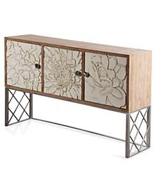 Floral Engraved Cabinet