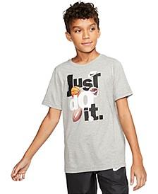 Big Boys Just Do It-Print T-Shirt