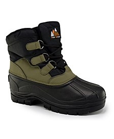 Men's All-Weather Snow Boots with Water-Resistant Shell