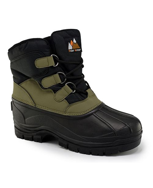 POLAR ARMOR Men's All-Weather Snow Boots with Water-Resistant Shell