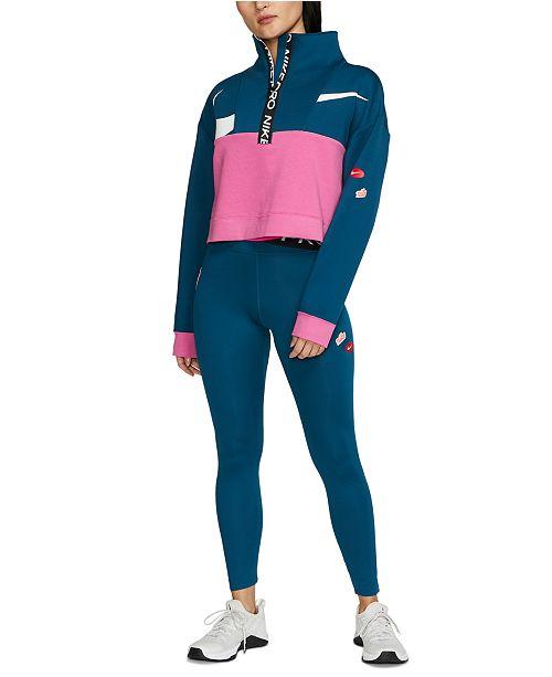 Nike Pro Colorblocked Half-Zip Top & Dri-FIT Leggings