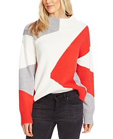 Intarsia Mock-Neck Sweater