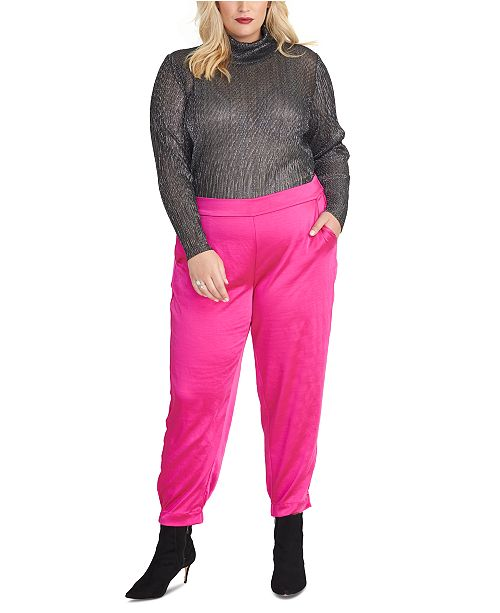 RACHEL Rachel Roy Plus Size Metallic Turtleneck Sweater