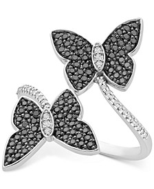 Diamond Butterfly Bypass Statement Ring (1/2 ct. t.w.) in Sterling Silver