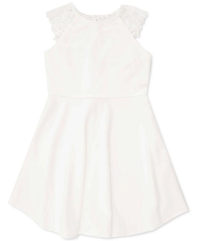Speechless Big Girls Lace-Back Dress