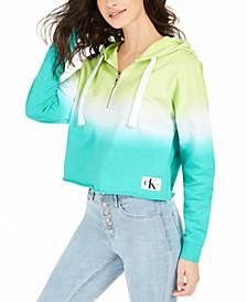 Tie-Dyed Quarter-Zip Hoodie