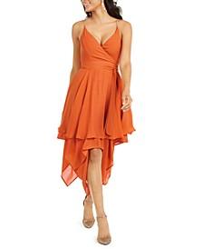 Chain-Strap Layered-Hem Dress, Created For Macy's