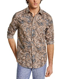 Men's Stretch Paisley-Print Shirt, Created for Macy's