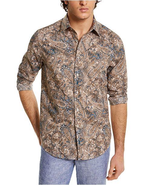 Tasso Elba Men's Stretch Paisley-Print Shirt, Created for Macy's