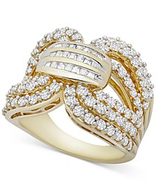 Diamond Statement Ring (2 ct. t.w.) in Gold-Plated Sterling Silver, Created for Macy's