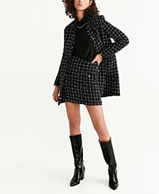 Check Tweed Miniskirt