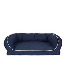 Classic Canvas Bolster Bed with Contrast Cording Collection