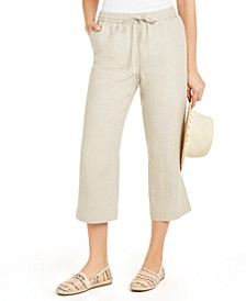 Cropped Tie-Waist Pants, Created for Macy's