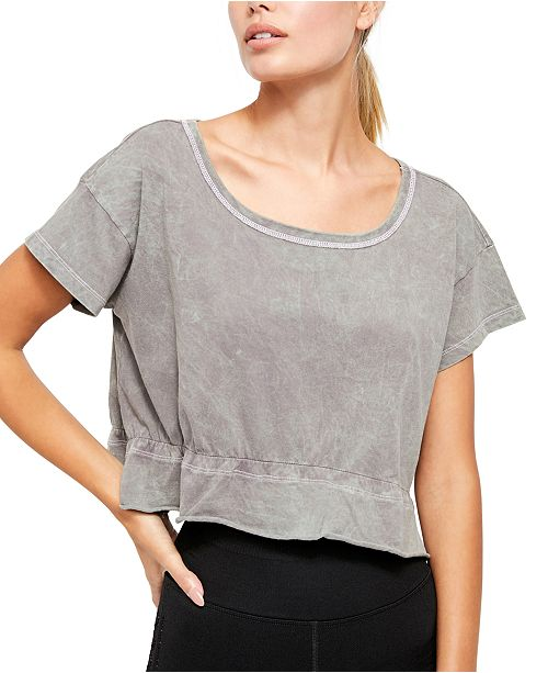 Free People Acadia Cropped T-Shirt