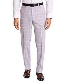 Men's Classic-Fit Lavender Windowpane Suit Separate Pants