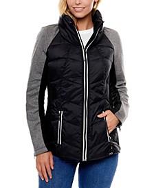 Division Mixed Nylon/Knit Jacket