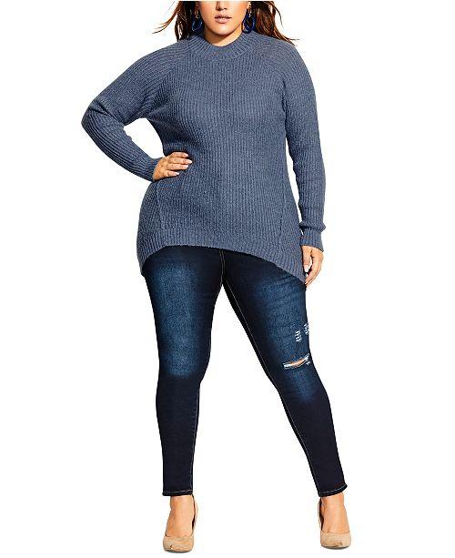 City Chic Trendy Plus Size Striking Sweater