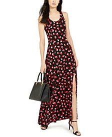 Petal-Print Maxi Dress, Regular & Petite