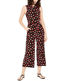 Printed Sleeveless Cropped Jumpsuit