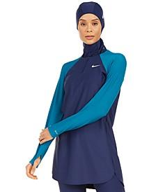 Colorblocked Long-Sleeve Swim Tunic
