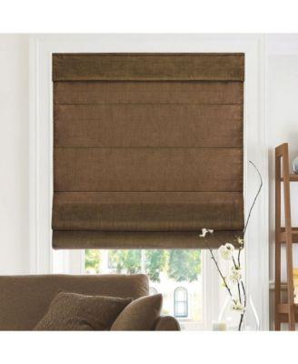 Cordless Roman Shades, Soft Fabric Window Blind, 36
