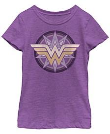 DC Comic's Big Girl's Wonder Woman Star Logo Short Sleeve T-Shirt