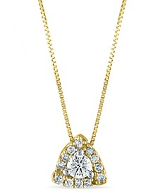 "Diamond 1/4 ct. t.w. Pendant 18"" Necklace in 10K Yellow Gold"