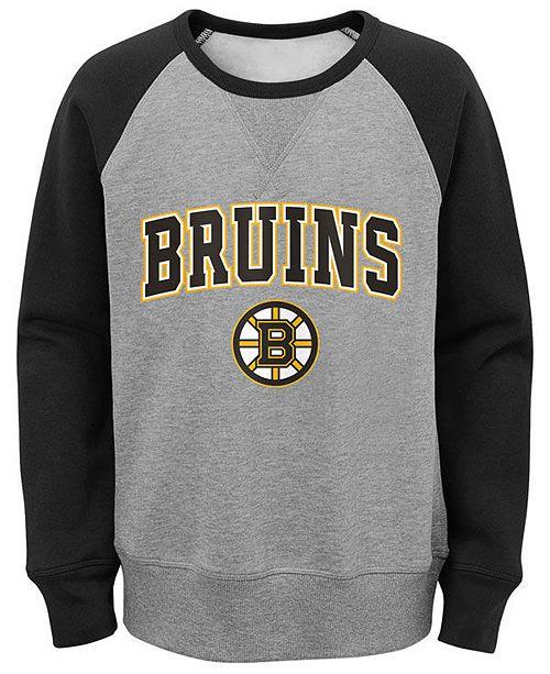 Outerstuff Big Boys Boston Bruins Chief Crewneck Sweatshirt