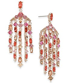 INC Rose Gold-Tone Stone Chandelier Earrings, Created For Macy's