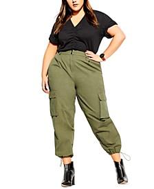 Trendy Plus Size Cotton Cargo Pants