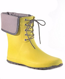 Coachella Canvas Waterproof Women's Ankle-Height Rain Boot