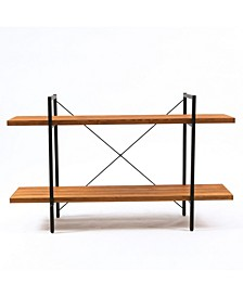 """31"""" Height 2-Tier Wood Etagere Bookcase"""