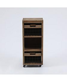 Wood Mobile Storage Cart