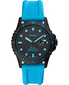 Men's FB-01 Blue Silicone Strap Watch 42mm