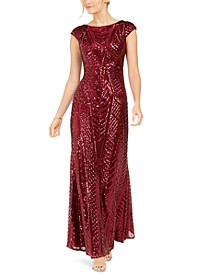 Allover-Sequin Gown