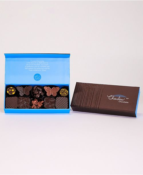 Charles Chocolates Nuts, Pralines & Caramels Collection, Small Box (10 piece)
