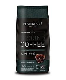 Extra Dark Roast Ground Coffee, 3 pack of 12oz Bag