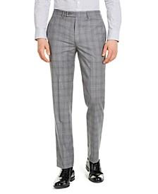 Men's X-Fit Slim-Fit Infinite Stretch Light Gray Blue Plaid Suit Separate Pants