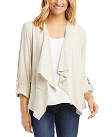 Tab-Sleeve Draped Jacket