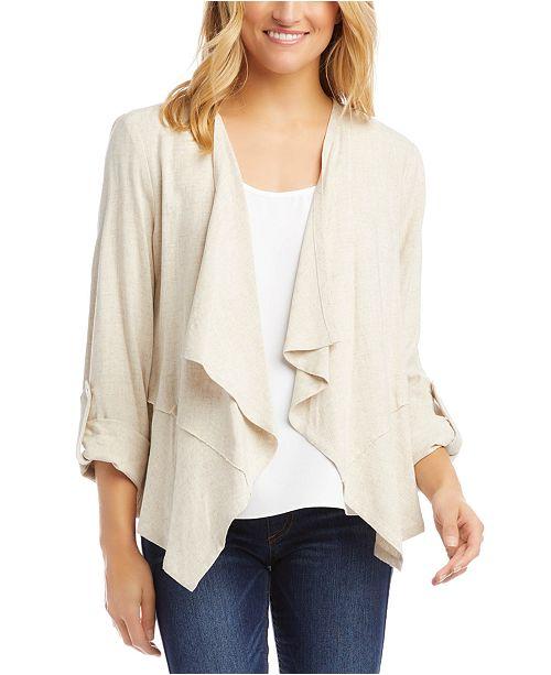 Karen Kane Tab-Sleeve Draped Jacket