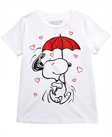 Peanuts Big Girls Snoopy Umbrella T-Shirt
