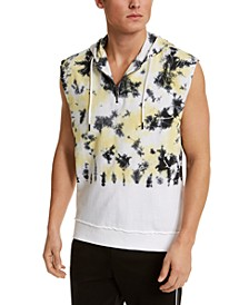 INC Men's Sleeveless Tie Dye Hoodie, Created for Macy's