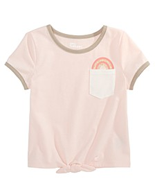 Little Girls Rainbow Pocket T-Shirt, Created For Macy's