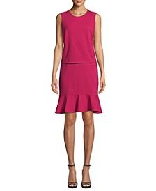 Ponté-Knit Blouson Dress