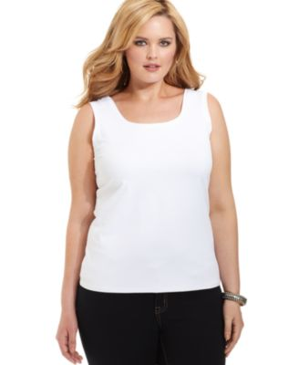 Alfani Plus Size Layering Tank Top - Tops - Plus Sizes - Macy's