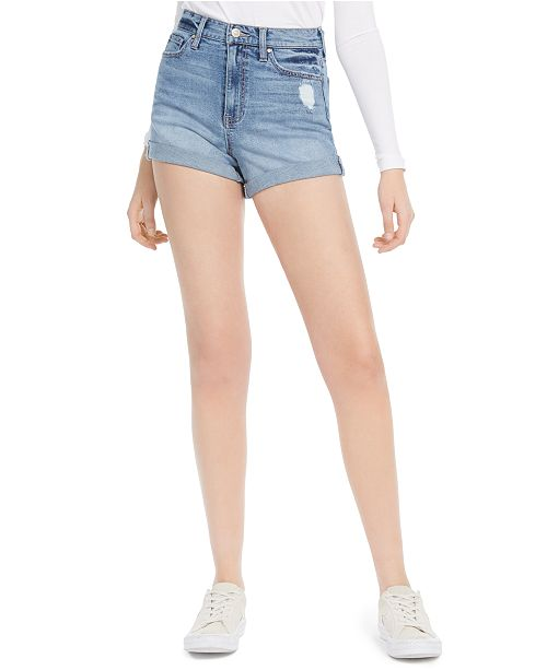 Celebrity Pink Juniors' Curvy Jean Shorts