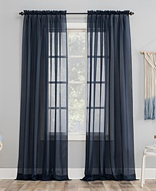 "Sheer Voile 59"" x 95"" Rod Pocket Top Curtain Panel"