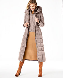 Cole Haan Hooded Down Maxi Puffer Coat
