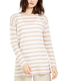 Eileen Fisher Organic Striped Tunic, Regular & Petite