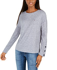 Snap-Sleeve Sweater